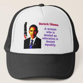 Boné Uma mulher que seja negada - Barack Obama