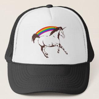 Boné Unicórnio com arco-íris