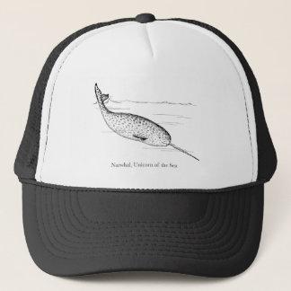 Boné Unicórnio da baleia de Narwhal do mar