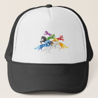 Boné Unicórnios selvagens coloridos da ilustração