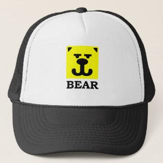 Boné Urso alegre do quadrado amarelo do smiley