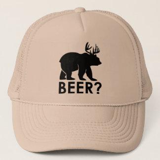 Boné Urso + Cervos = cerveja? chapéu do camionista