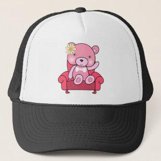 Boné Urso cor-de-rosa na arte do sofá