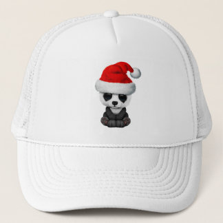 Boné Urso de panda do bebê que veste um chapéu do papai