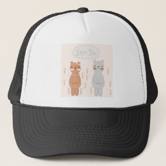 Boné Urso de ursinho bonito do casal dos namorados dos