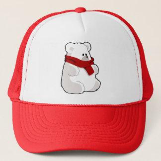 Boné Urso polar dos desenhos animados doces no lenço