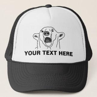 Boné Urso polar e seu texto
