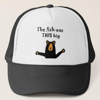 Boné Urso preto engraçado que diz a história dos peixes