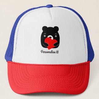Boné Urso preto que guardara um coração
