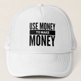 Boné Use o dinheiro para fazer o chapéu do camionista