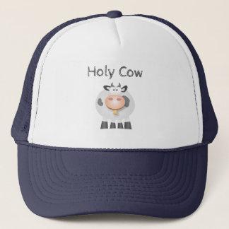 Boné Vaca santamente engraçada é seu aniversário bonito