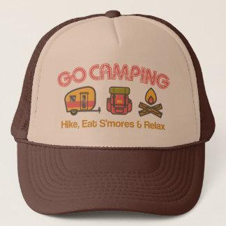 Boné Vai o chapéu de acampamento do camionista