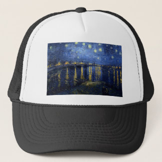 Boné Van Gogh: Noite estrelado sobre o Rhone