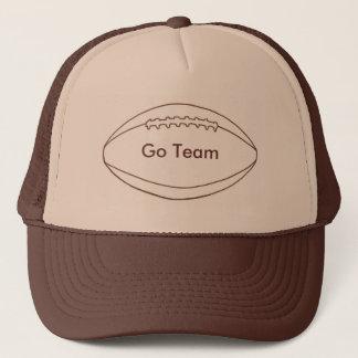 Boné Vão os chapéus do futebol do esboço da equipe