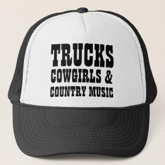 Boné Vaqueiras e música country dos caminhões