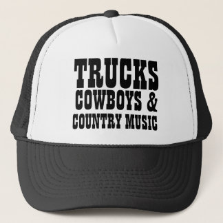 Boné Vaqueiros e música country dos caminhões