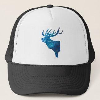 Boné veado principal dos cervos no azul