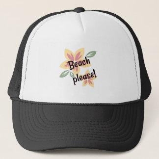 Boné Verão floral - praia por favor