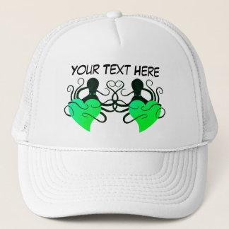 Boné Verde do amor do polvo - chapéu do camionista