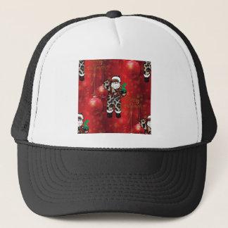 Boné vermelho africano de claus do leopardo do papai