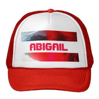 Boné vermelho de Abigail