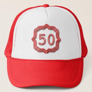 Boné Vermelho de néon 50