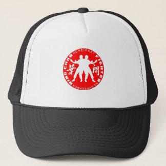 Boné Vermelho do emblema do lutador de Chun da asa