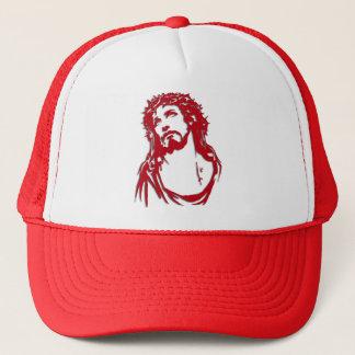 "Boné vermelho e branco ""JESUS"""
