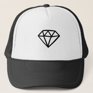 Boné Versão preto e branco do diamante