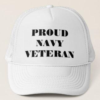 Boné Veterano orgulhoso do marinho do chapéu