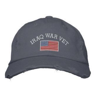 Boné Veterinário da guerra no iraque com bandeira