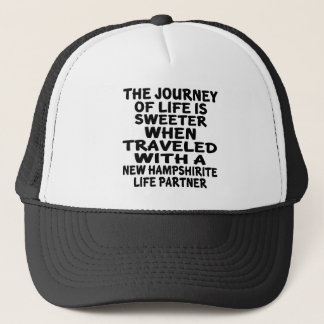Boné Viajado com um sócio novo da vida de Hampshirite