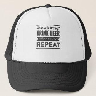 Boné Vida feliz do tênis das bebidas da cerveja