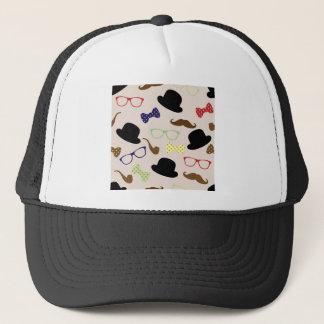 Boné Vidros, chapéus e bigode