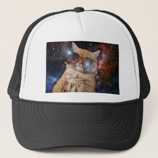 Boné Vidros do gato - gato dos óculos de sol - espaço