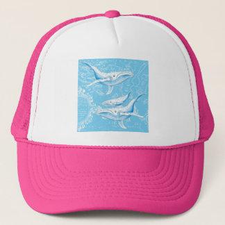Boné Vintage da família das baleias azuis