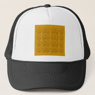 Boné Vintage do ouro dos limões do design