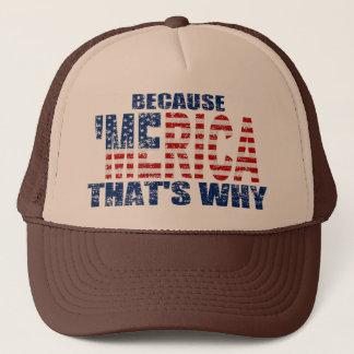 Boné Vintage PORQUE 'chapéu do camionista de MERICA É