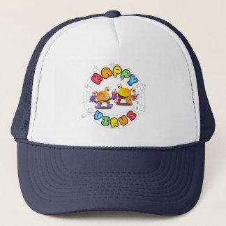 Boné Vírus feliz - chapéu do camionista