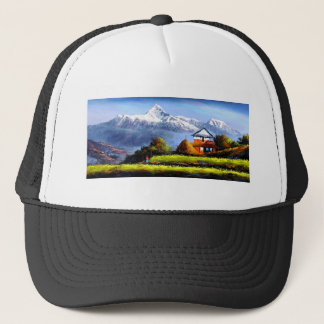 Boné Vista panorâmica da montanha bonita de Everest