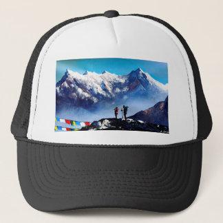 Boné Vista panorâmica da montanha máxima de Ama Dablam