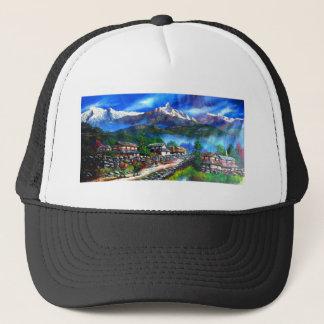 Boné Vista panorâmica da montanha Nepal de Everest