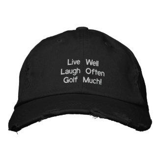 Boné Vive bem o golfe do riso frequentemente muito!