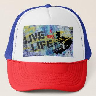 Boné Vive o chapéu de um camionista do skate do
