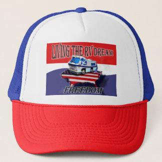 Boné Vivendo o chapéu de basebol ideal da liberdade do