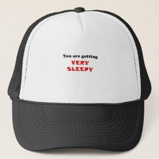 Boné Você está obtendo muito sonolento