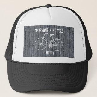 Boné Você mais a bicicleta iguala o cinza de madeira