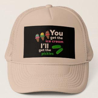 Boné Você obtem o sorvete, mim obterá as salmouras
