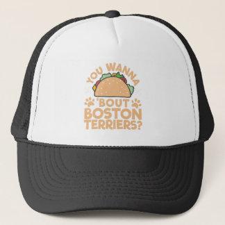 Boné Você quer aos terrier de Boston do ataque do Taco?