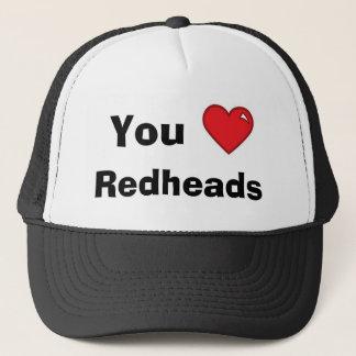 Boné Você Redheads do coração -- Chapéu da malha